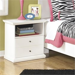 Ashley Bostwick Shoals 1 Drawer Wood Nightstand in White