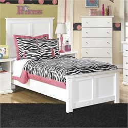 Bostwick Shoals Wood Panel Bed in White