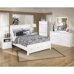 Ashley Bostwick Shoals Wood Queen Storage Bedroom Set in White