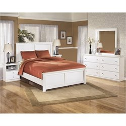 Ashley Bostwick Shoals Wood Queen Panel Bedroom Set in White