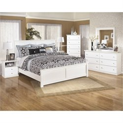 Bostwick Shoals 6 Piece Wood Panel Bedroom Set in White