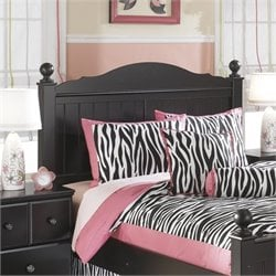 Jaidyn Wood Poster Panel Headboard in Black