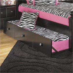 Ashley Jaidyn Twin Panel Trundle in Black