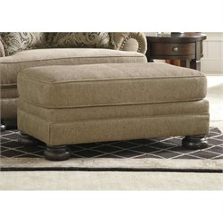 Ashley Keereel Fabric Ottoman in Sand