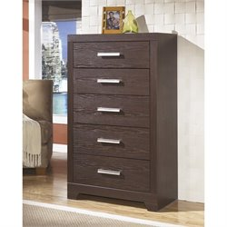 Ashley Aleydis 5 Drawer Wood Chest in Brown