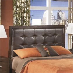 Aleydis Upholstered Panel Headboard in Brown