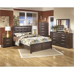 Ashley Aleydis 6 Piece Queen Panel Bedroom Set in Brown