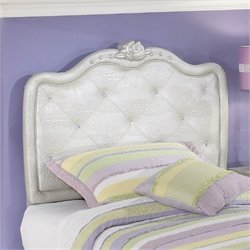 Zarollina Faux Croc Leather Headboard in Silver