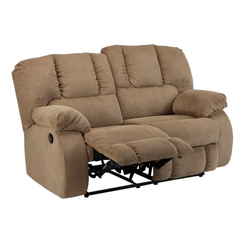 Ashley Roan Fabric Reclining Loveseat In Mocha 3860286