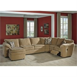 Coats 4 Piece Chaise Fabric Sectional in Dune