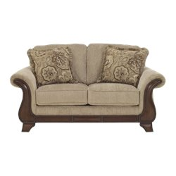Ashley Lanett Fabric Loveseat in Barley