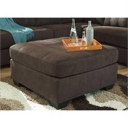 Ashley Maier Fabric Oversized Accent Ottoman in Walnut