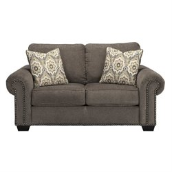 Ashley Emelen Chenille Loveseat in Alloy