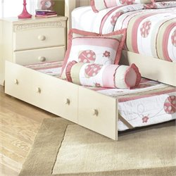 Ashley Cottage Retreat Twin Panel Trundle in Cream