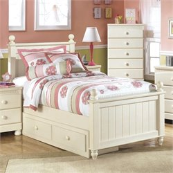 Ashley Cottage Retreat Wood Panel Drawer Bed in Cream