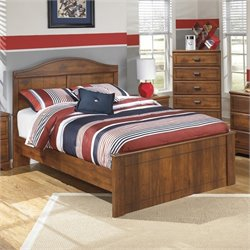 Barchan Wood Panel Bed in Brown