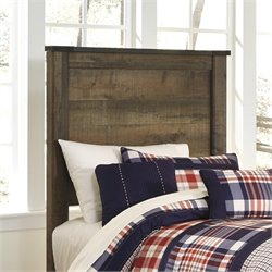 Trinell Wood Panel Headboard in Brown
