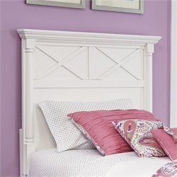 Kaslyn Wood Panel Headboard in White