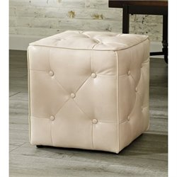 Jive Faux Leather Cube Accent Ottoman