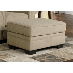 Ashley Tailya Fabric Ottoman in Barley