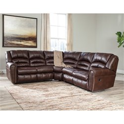 Manzanola 2 Piece Faux Leather Reclining Sectional