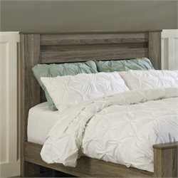 Zelen Wood Rail Panel Headboard in Brown