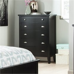Ashley Braflin 5 Drawer Wood Chest in Black