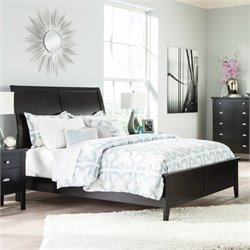 Ashley Braflin Wood Sleigh Bed in Black