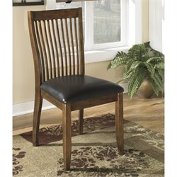 Ashley Stuman Upholstered Dining Side Chair in Brown