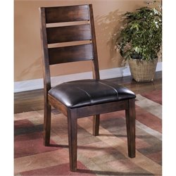 Ashley Larchmont Upholstered Dining Chair in Brown