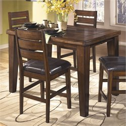 Ashley Larchmont Wood Counter Height Table in Brown