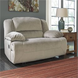 Toletta Fabric Wide Seat Recliner in Granite