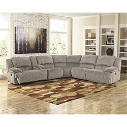Toletta 6 Piece Corner Console Reclining Sectional in Granite