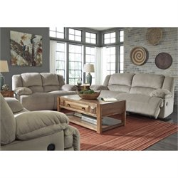 Ashley Toletta 3 Piece Fabric Reclining Sofa Set in Granite