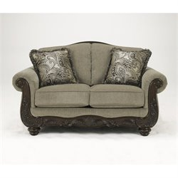 Ashley Martinsburg Chenille Loveseat in Meadow
