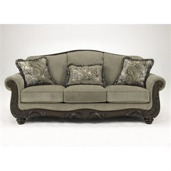Ashley Martinsburg Chenille Sofa in Meadow
