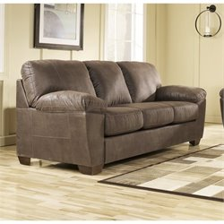Ashley Amazon Microfiber Sofa in Walnut