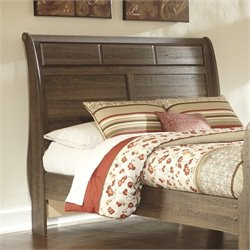 Ashley Allymore Wood Queen Sleigh Headboard in Brown