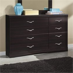 Ashley Zanbury 8 Drawer Wood Dresser in Merlot