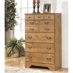 Ashley Bittersweet 5 Drawer Wood Chest in Light Brown