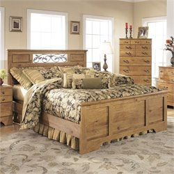 Ashley Bittersweet Wood Queen Panel Bed in Light Brown