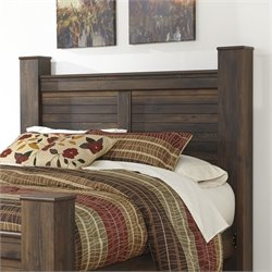 Quinden Wood Poster Panel Headboard in Dark Brown