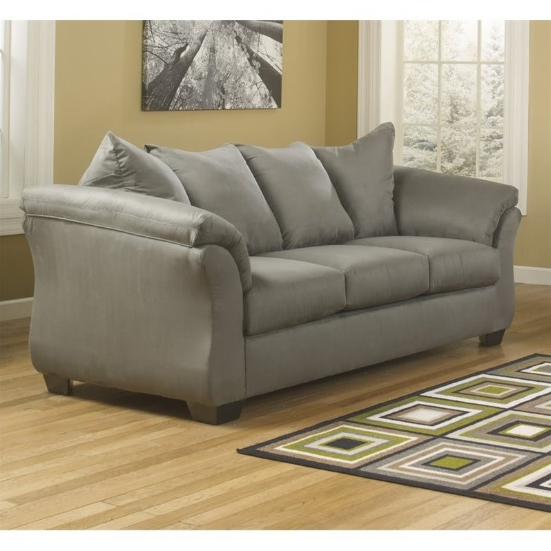 Ashley Darcy Fabric Full Size Sleeper Sofa In Cobblestone
