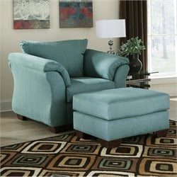 Darcy Fabric Chair with Ottoman