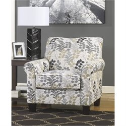 Ashley Makonnen Fabric Accent Chair in Winter