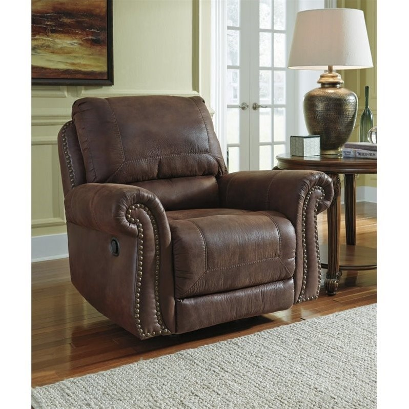 home furniture living room recliners ashley breville faux leather