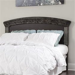 Ashley Vachel Wood Full Queen Panel Headboard in Dark Brown