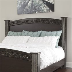 Vachel Wood Poster Panel Headboard in Dark Brown