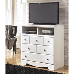 Ashley Weeki 3 Drawer Wood Media Chest in White
