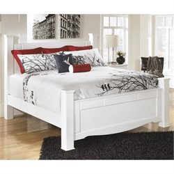 Weeki Wood Poster Panel Bed in White